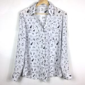 Express White Shirt with Summer Style